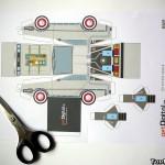 Papercraft DeLorean 1