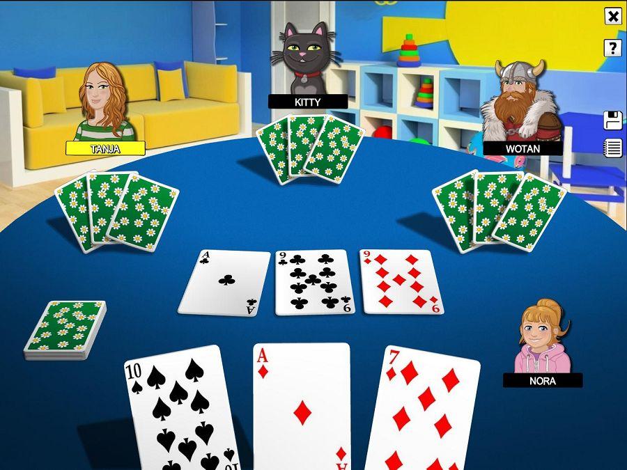 Schwimm Kartenspiel