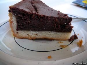 Cakees - Schoko Quark Kuchen - Choco Cheese Cake - Stueck Schoko Käsekuchen
