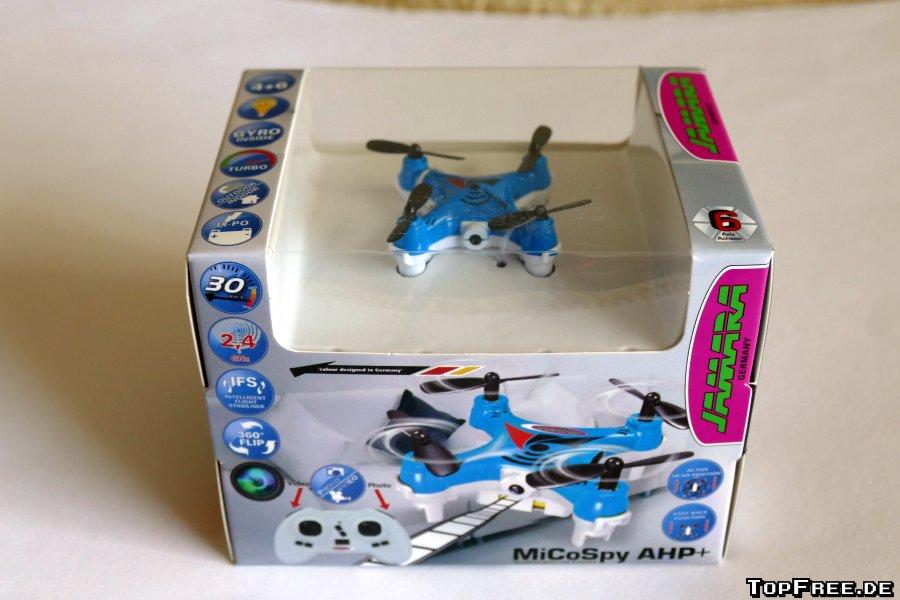 Jamara 422009 MiCoSpy AHP Mini Drohne Quadrocopter Mit Kamera 1