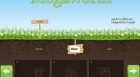 """""""Bei Megaworm 2 steuert man einen Wurm mit den Pfeiltasten. Ziel ist es, alle Äpfel einzusammeln. Wenn der Wurm eine Wand berührt, muss man das Level wieder von vorne beginnen. […]"""