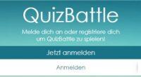 Es wird Zeit für ein Battle! Ein Quizbattle. Denn in dem gleichnamigen Spiel machst du genau das: Andere im Quizzen battlen. Oder so ähnlich.
