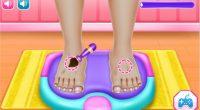 Geute schon die Füße gepudert? Nicht? Dann wird es aber Zeit. Endlich gibt es das Pediküre-Onlinespiel für Männer!