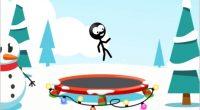 Im Winter Trampolin springen? Wuhuuu! Für ein Strichmännchen kein Problem. Für dich umso schwerer, denn legt sich das dünne Männchen einmal lang …